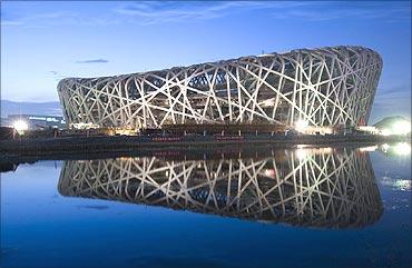 Beijing Olympics stadium.