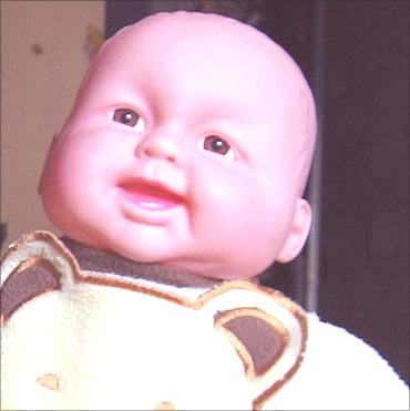 A doll made in China.