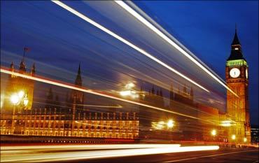London by night.