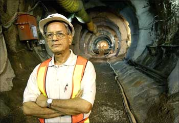 Elattuvalapil Sreedharan, managing director, Delhi Metro Rail Corporation.