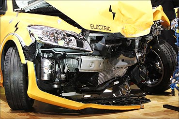 A crash tested C30.