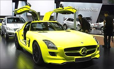 SLS E-cell roadster.