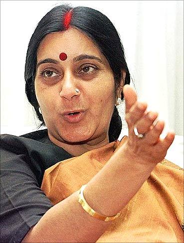 BJP leader Sushma Swaraj.