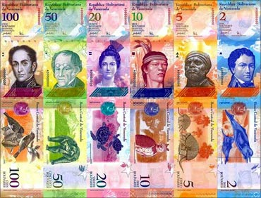 Venezuela currency.