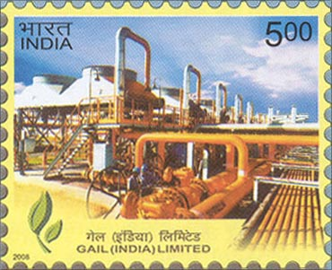 A postal stamp shows GAIL.
