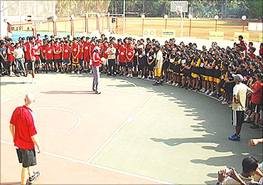 Mahindra and National Basketball Association promote the sport.