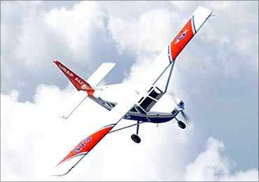 Flying high , Mahindras' aerospace biz.