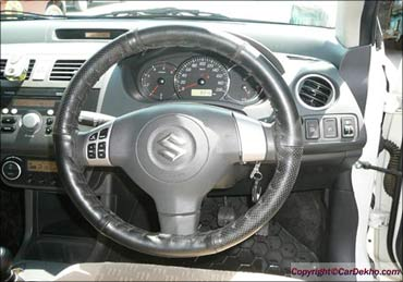 Maruti Swift Dzire interior.