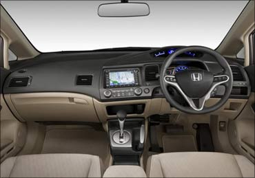 Honda Civic interior.