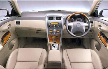 Toyota Corolla Altis interior.
