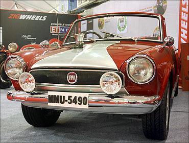 A vintage Fiat model.