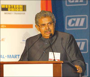 Vayalar Ravi, the new minister for civil aviation.