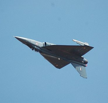 The HAL Tejas conducting an inverted pass shown here is an example of Fly-by-wire control.