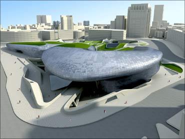 Dongdaemun Design Paza in Seoul.