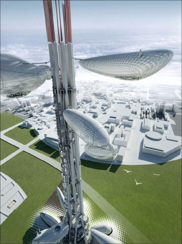 The world's first-ever alternative-energy skyscraper.