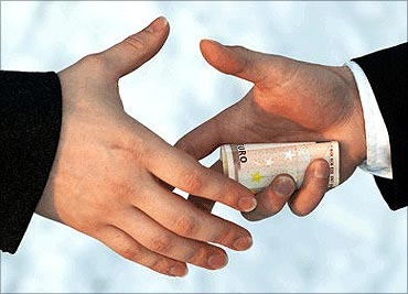 One person in four worldwide paid a bribe.