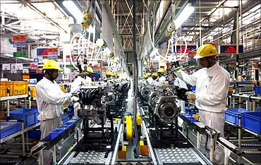 A car factory in Gujarat.