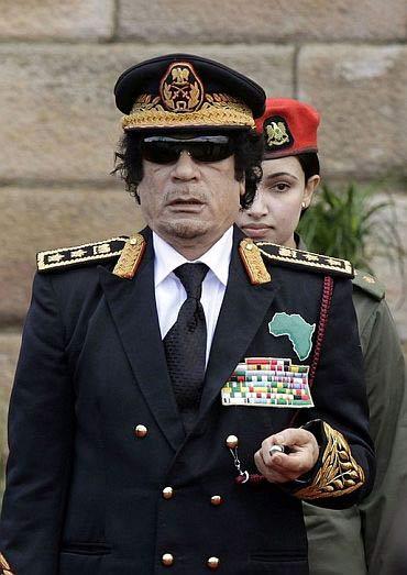 Libyan President Muammar Gaddafi.