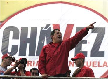 Venezuela's President Hugo Chavez.