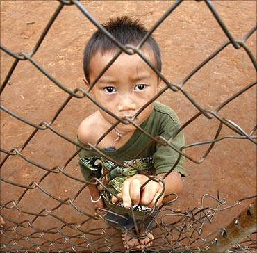 A child in Thailand.