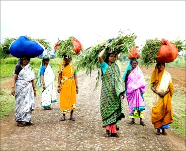 Rural women in India.