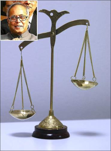 (Inset) Finance Minister Pranab Mukherjee.
