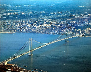 Akashi-Kaikyo Bridge Road.