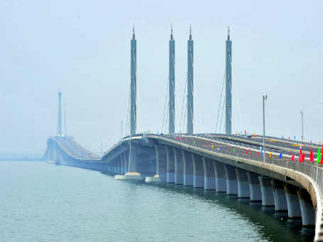Jiaozhou Bay Bridge.