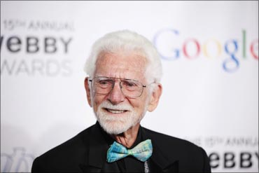 Martin Cooper, inventor of the world's first mobile phone, at the 15th annual Webby Awards in New York.