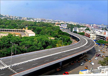 Hyderabad elevated expressway.
