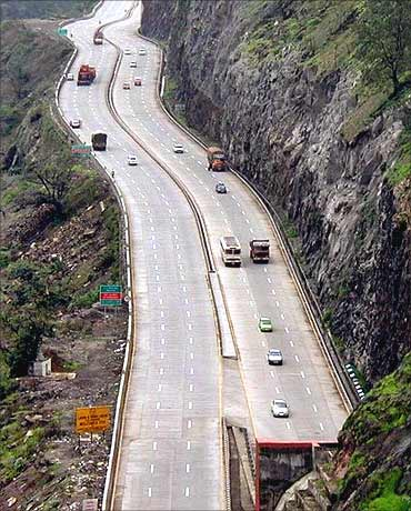 Mumbai-Pune Expressway.