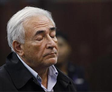 Dominique Strauss-Kahn appears in Manhattan Criminal Court.