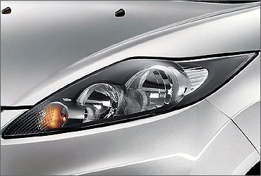 Headlamp of Ford Fiesta.