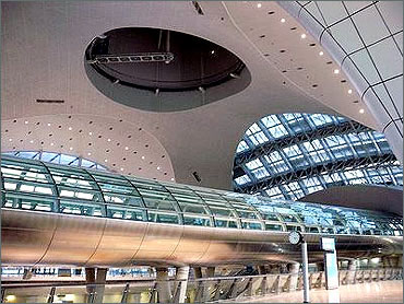 The new Hyderabd airport.