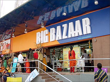 Big Bazaar outlet.
