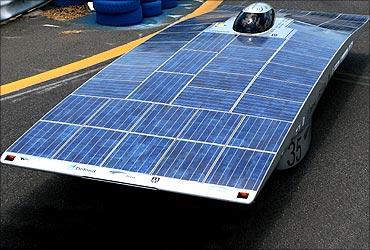 New Zealand's Solar Fern Racing solar car Solar Fern.