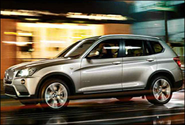 Side view of BMW X3.
