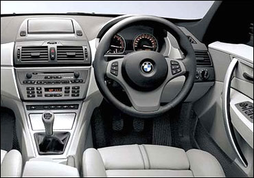 The dashboard of BMW X3.