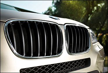 The front grille.