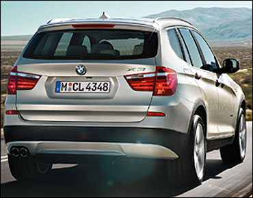 Rear view of BMW X3.