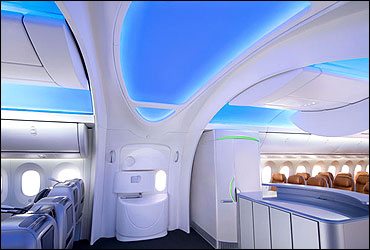 Entrance of Boeing 787 Dreamliner.