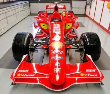 A Ferrari F1 car.