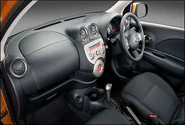 Interior view of Micra.