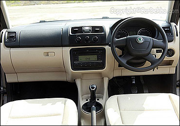 Dashboard of Skoda Fabia.
