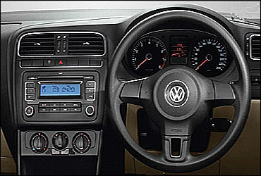 Dashboard of Volkwagen Polo.