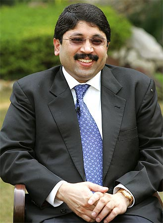 Textiles Minister Dayanidhi Maran.