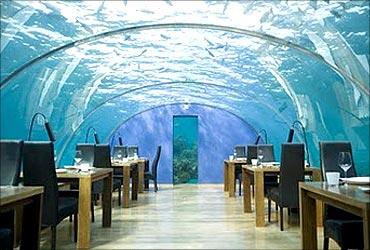 Undersea restaurant.