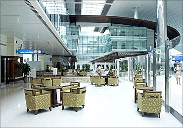 Dubai International airport.