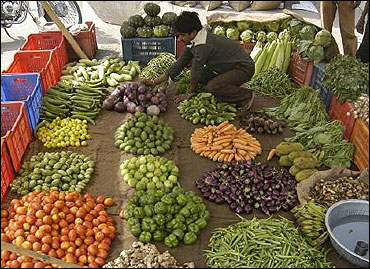 Vegetables prices rise.