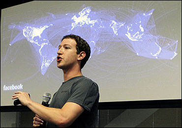 Facebook CEO Mark Zuckerberg speaks during a news conference.